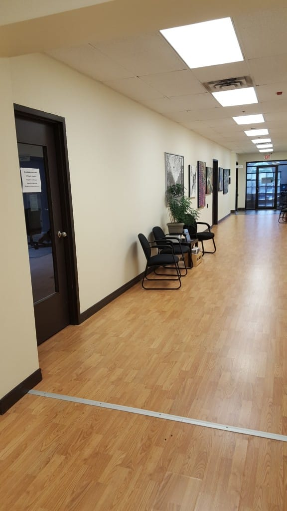 Interior hallway to suite 22 2017